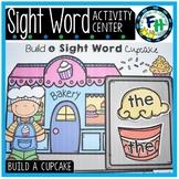 Build A Cupcake {Sight Word Center}