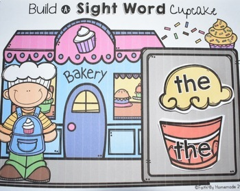 Sight Word Center {Build a Cupcake}