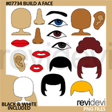 Build A Face clip art - Learning body parts clipart
