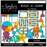 Build-A-Game Ocean Clipart {A Hughes Design}
