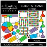Build-A-Game Pencils Clipart {A Hughes Design}
