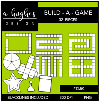 Build-A-Game Stars Clipart {A Hughes Design}