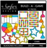 Build-A-Game Stars Clipart {A Hughes Design}