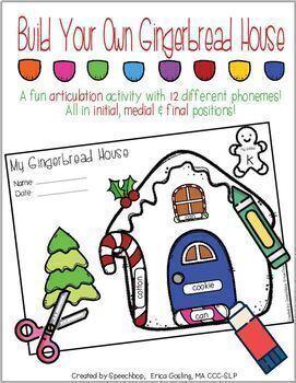 Build A Gingerbread House - A Fun Articulation Activity!