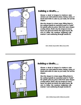 Build-A-Giraffe FUN Shapes Activity