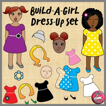 Create-A-Girl Dress Clip Art Set