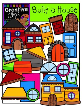 Build A House {Creative Clips Digital Clipart}