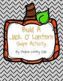 Build A Jack O' Lantern: Shape and Writing Activity