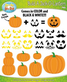 Build A Jack-O-Lantern Clipart {Zip-A-Dee-Doo-Dah Designs}