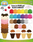 Build Your Own Ice Cream Cone Clipart {Zip-A-Dee-Doo-Dah Designs}