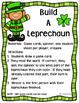 Build A Leprechaun ~ Reading Bossy R Word Game ~ BONUS Oh no! Game