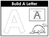 Build A Letter Worksheets. Preschool-Kindergarten Phonics.