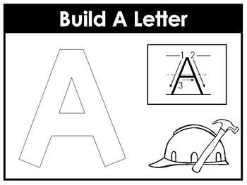 Build A Letter Worksheets. Preschool-Kindergarten Phonics. by Teach ...
