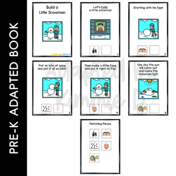Build A Little Snowman Adapted Book for Students with Autism & Special Needs