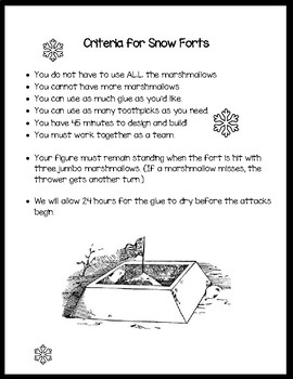 Build A Marshmallow Snowfort: STEAM activity