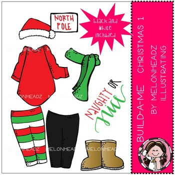 Build-A-Me clip art - Christmas 1 - Mini - by Melonheadz