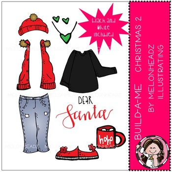 Build-A-Me clip art - Christmas 2 - Mini - by Melonheadz