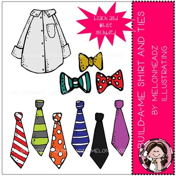 Build-A-Me clip art - Man - Shirt and Ties - by Melonheadz