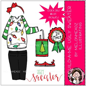 Build-A-Me clip art - Ugly Sweater - Mini - by Melonheadz