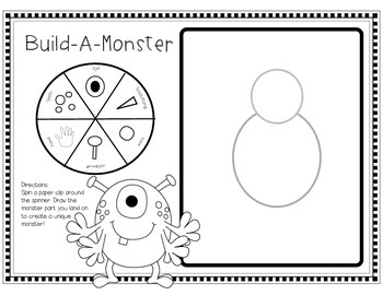 Build-A-Monster! (Game, QR Code Listening Centers, Writing, and More!)