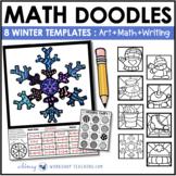 Math Doodles WINTER Math Art Writing