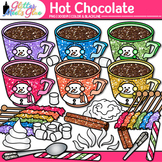 Hot Chocolate & Candy Clip Art | Winter Graphics of Food for Digital Resources 1