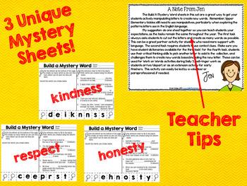 Build A Mystery Word Freebie ~ Upper Elementary Interactive Word Work