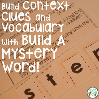 Build A Mystery Word ~ The Bundle ~ Interactive Word Work for Big Kids