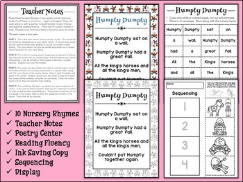 Build A Nursery Rhyme Poetry Center