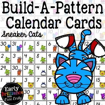Build-A-Pattern ITALICS Calendar Cards--Sneaker Cats