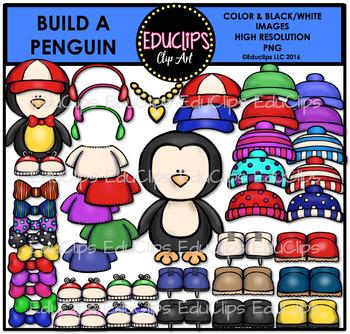 Build A Penguin Clip Art Bundle