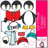 Build A Penguin clip art - COMBO PACK - by Melonheadz Clipart