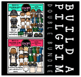 Build A Pilgrim Clip Art Double Bundle {Educlips Clipart}