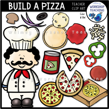 Build A Pizza Clip Art Whimsy Workshop Teaching
