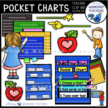 Build a pocket chart clip art by whimsy workshop teaching tpt