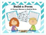 Build-A-Poem {15 Nursery Rhymes to Build & Write} Kindergarten/1st/2nd