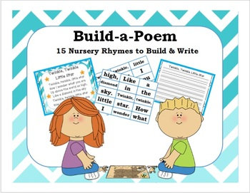 Build-A-Poem {15 Nursery Rhymes to Build & Write} Kindergarten/1st/2nd