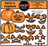 Build A Pumpkin Clip Art Bundle {Educlips Clipart}