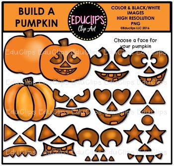 Build A Pumpkin Clip Art Bundle {Educlips Clipart}