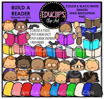 Build A Reader Clip Art Bundle {Educlips Clipart}