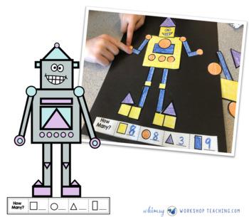 Build A Robot Geometry Math Craft (From Crafty Math Bundle 1)