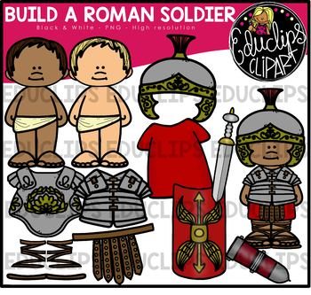 Build A Roman Soldier Clip Art Bundle {Educlips Clipart}