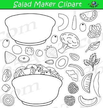 Build A Salad Clipart Set