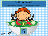 Build A Salad - Restaurant Theme Counting Mats 1-10 (Tools of the Mind)