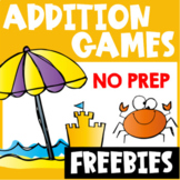 Free Addition Games for Fact Fluency: Addition Math Board Games
