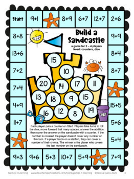 Obsessed image within math fact fluency games printable