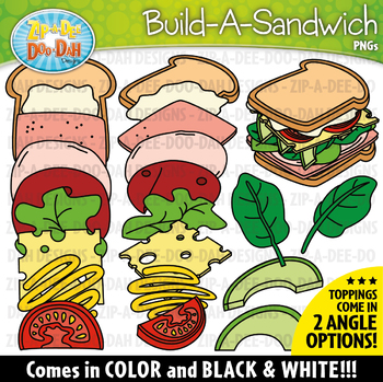 Build-A-Sandwich Clipart Set {Zip-A-Dee-Doo-Dah Designs}