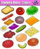 Build A Sandwich - Digital Bread and Toppings Clipart Pack