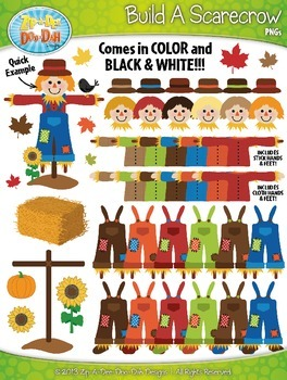 Build A Scarecrow Clipart {Zip-A-Dee-Doo-Dah Designs}