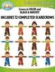 Build A Scarecrow Clipart {Zip-A-Dee-Doo-Dah Designs}